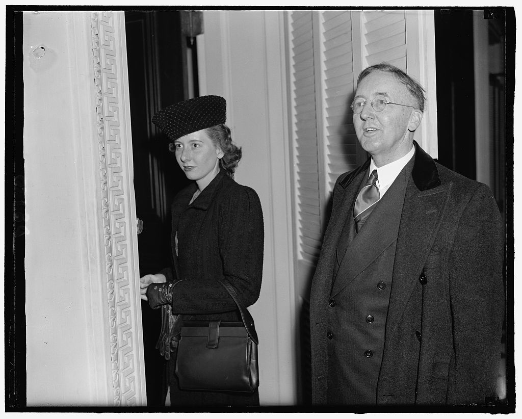 New Minister to Siam Hugh Grant & his daughter Louise, 4-9-40