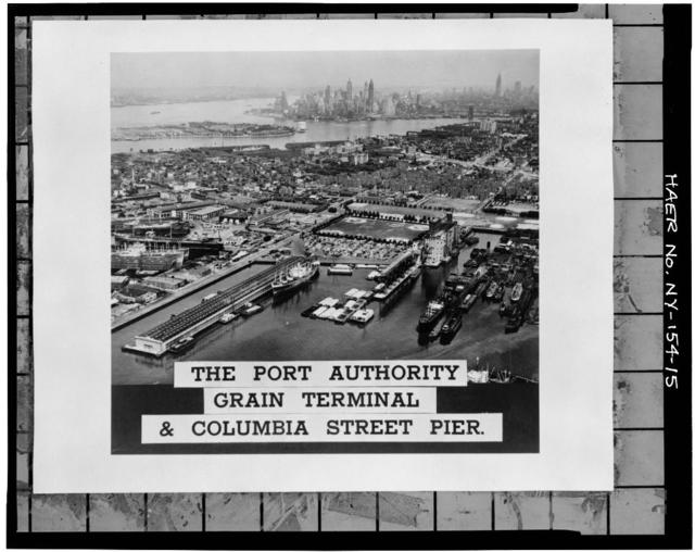 New York Barge Canal, Gowanus Bay Terminal Pier, East of bulkhead supporting Columbia Street, Brooklyn, Kings County, NY