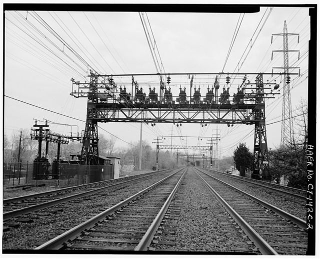 New York, New Haven & Hartford Railroad, Bridge-Type Circuit Breakers, Long Island shoreline between Stamford & New Haven, Cos Cob, Fairfield County, CT