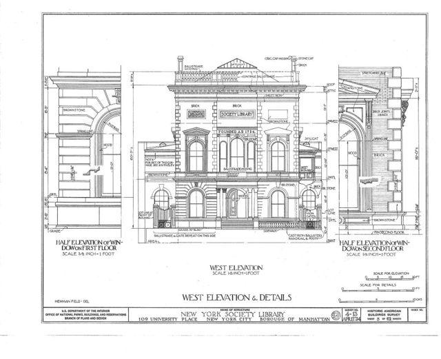 New York Society Library, 109 University Place, New York, New York County, NY
