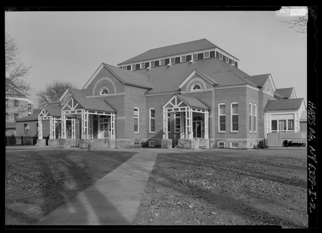 New York State Soldiers & Sailors Home, Dining Hall, Department of Veterans Affairs Medical Center, 76 Veterans Avenue, Bath, Steuben County, NY