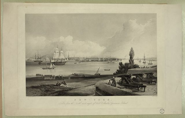 New York, taken from the north west angle of Fort Columbus, Governors Island