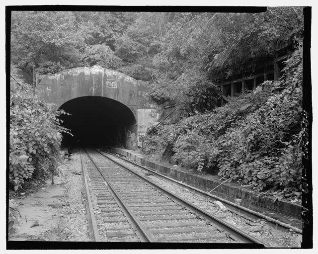 New York, West Shore & Buffalo Railroad, Weehawken Tunnel, Weehawken, Hudson County, NJ