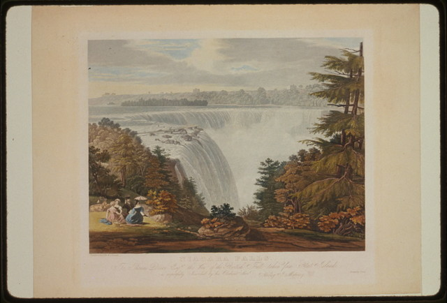 Niagara Falls. To Thomas Dixon esq. this view of the British Fall taken from Goat Island