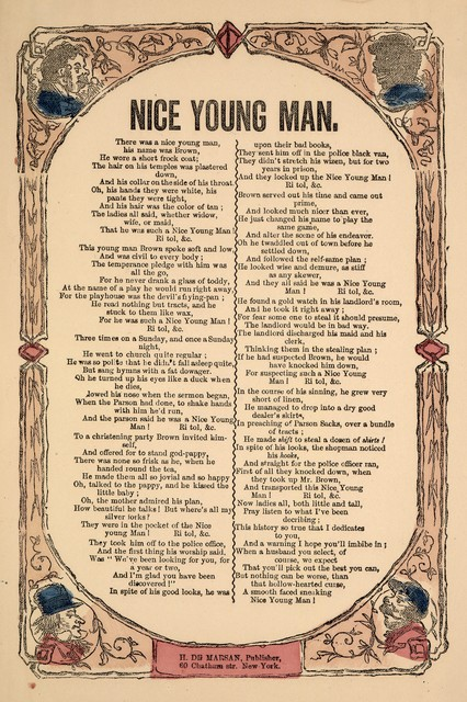 Nice young man. H. De Marsan, Publisher, 60 Chatham Street, N. Y