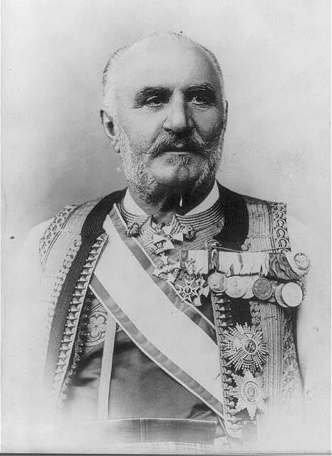 Nicholas I, King of Montenegro, 1841-1921, head and shoulders portrait, facing left