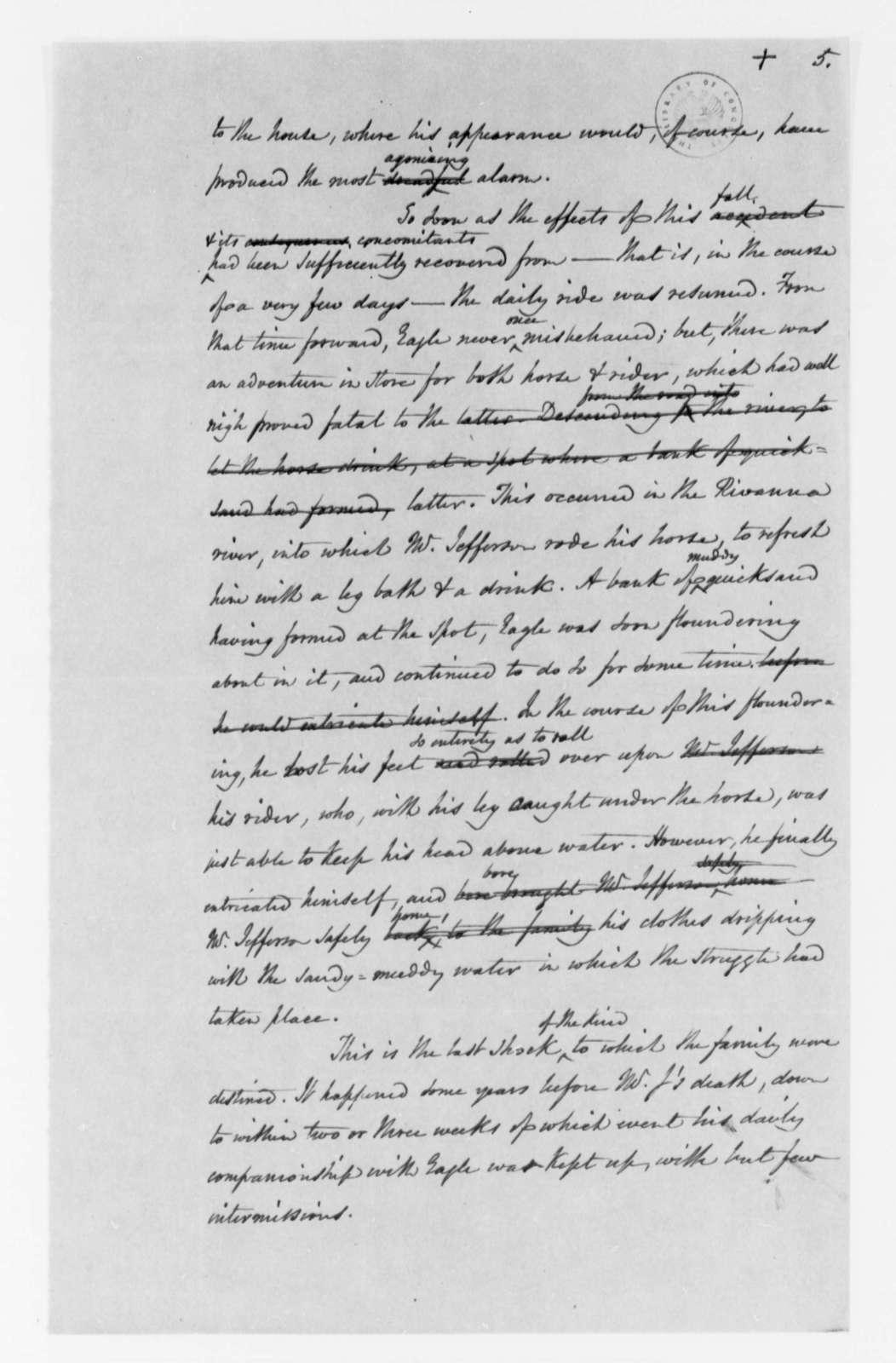 Nicholas P. Trist to Henry S. Randall, no date, Memorandum