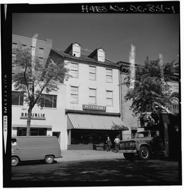 Nichol's Cafe, Seventeenth Street, Northwest, Washington, District of Columbia, DC