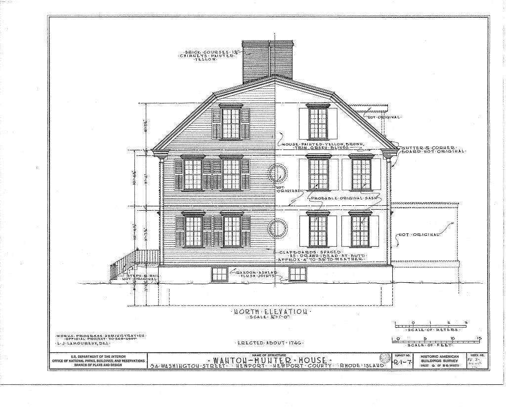 Nichols-Wanton-Hunter House, 54 Washington Street, Newport, Newport County, RI