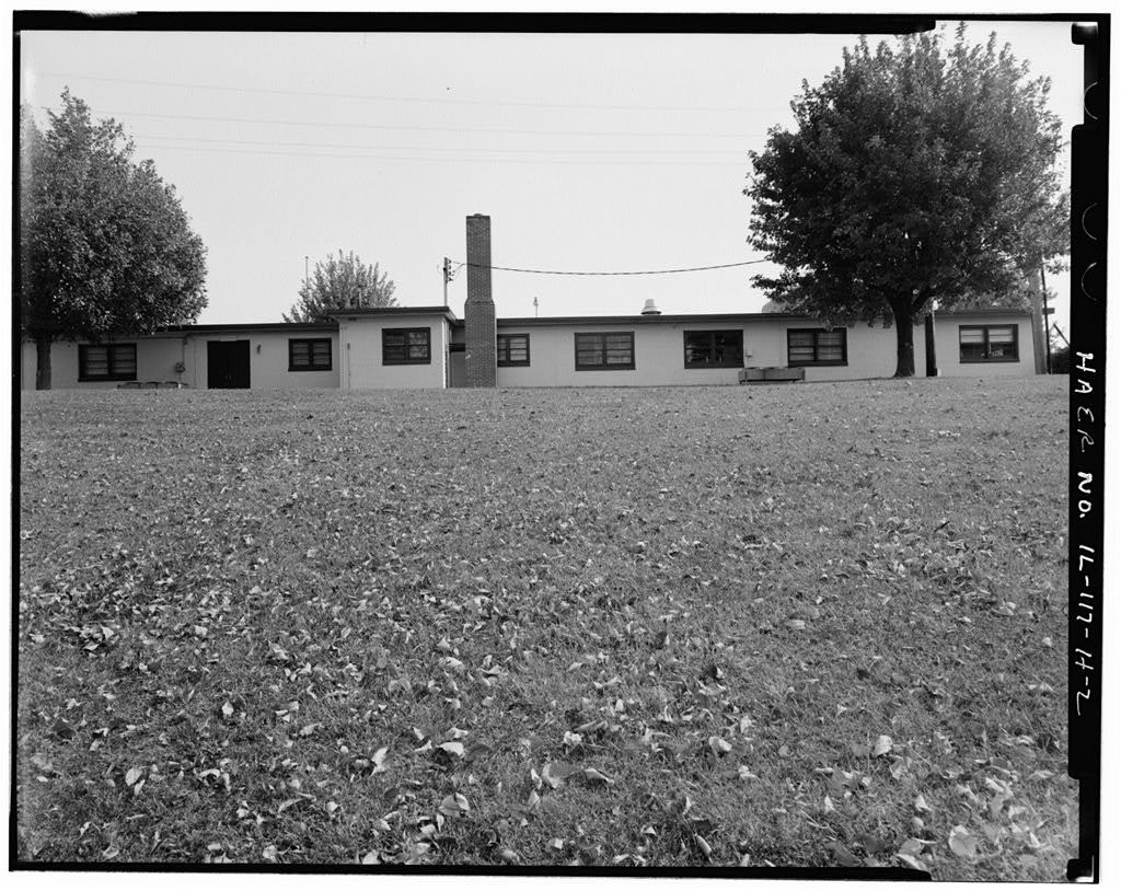 NIKE Missile Base SL-40, Administration Building, East central portion of base, southeast of Mess Hall, northeast of HIPAR Equipment Building, Hecker, Monroe County, IL