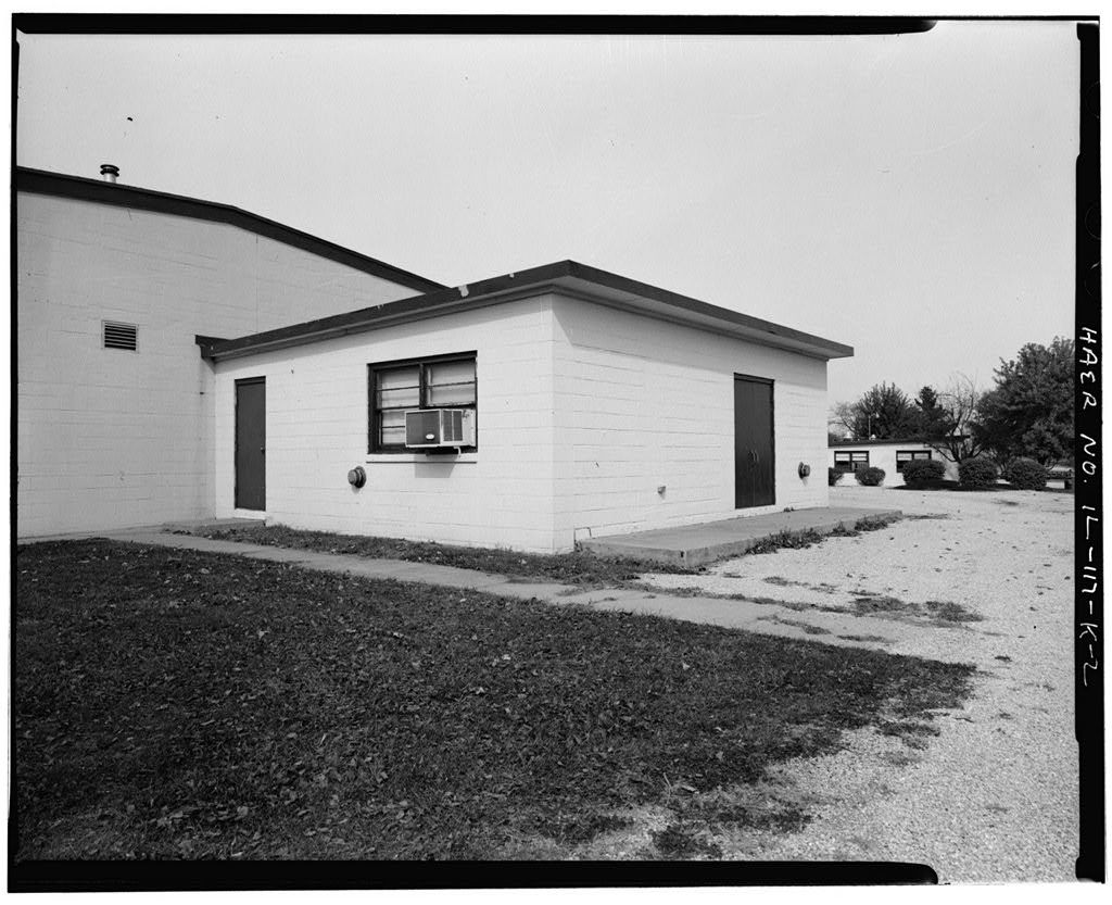 NIKE Missile Base SL-40, HIPAR Equipment Building, South end of base, northwest of Generator Building No. 2, southwest of Mess Hall, Hecker, Monroe County, IL