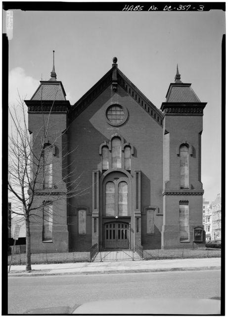 Nineteenth Street Baptist Church, Nineteenth & I Streets (demolished), Washington, District of Columbia, DC