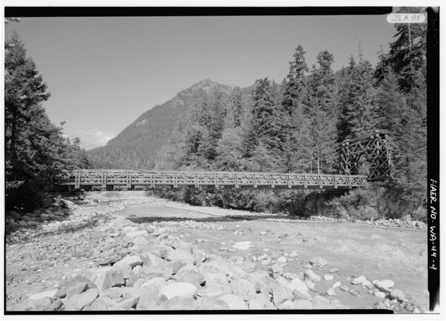 Nisqually Suspension Bridge, Spanning Nisqually River on Service Road, Longmire, Pierce County, WA