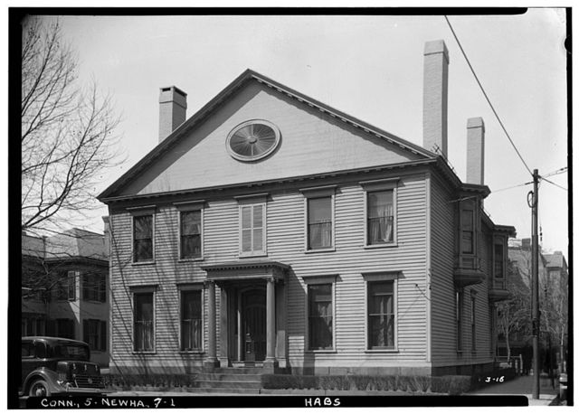 Noah Webster House, Temple & Grove Streets (moved to MI, Dearborn), New Haven, New Haven County, CT