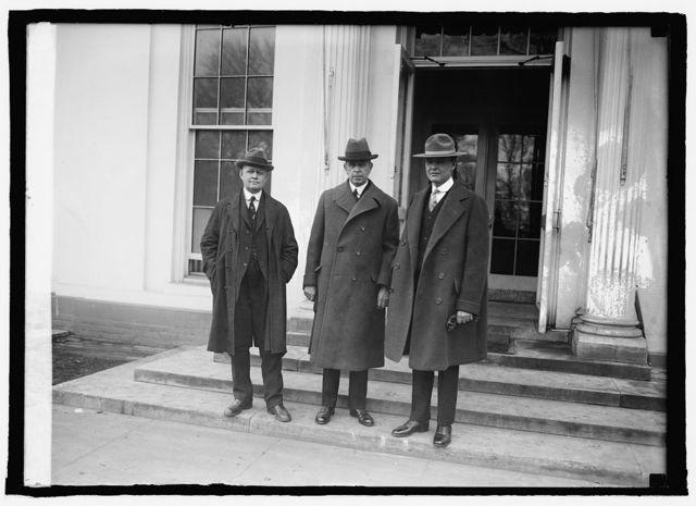 Noel W. Smith of Alaska, Sec. Work, and George A. Parks of Alaska at W.H. [i.e., White House, Washington, D.C.], 1/22/25