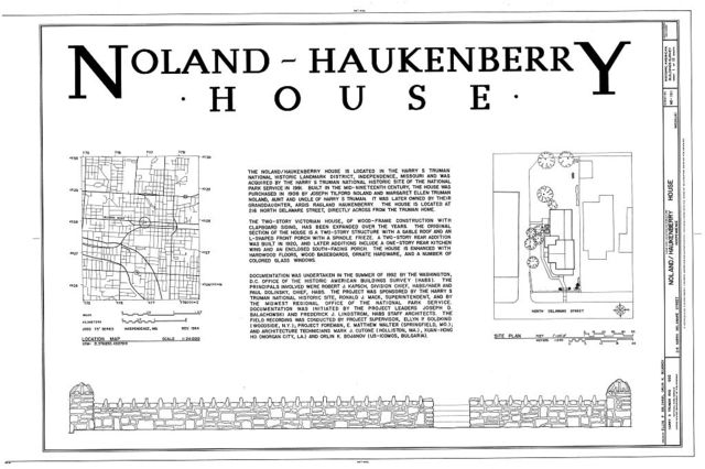 Noland-Haukenberry House, 216 North Delaware Street, Independence, Jackson County, MO