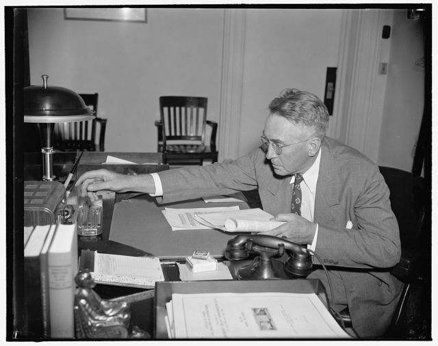 Nominated as Assistant Secretary of Treasury. Washington, D.C., June 2. Herbert Gaston, now Special Assistant to Secretary of the Treasury Morgenthau, has been nominated by President Roosevelt to be Assistant Secretary of Treasury to succeed Wayne Chatfield Taylor, resigned. This is a new informal picture made today