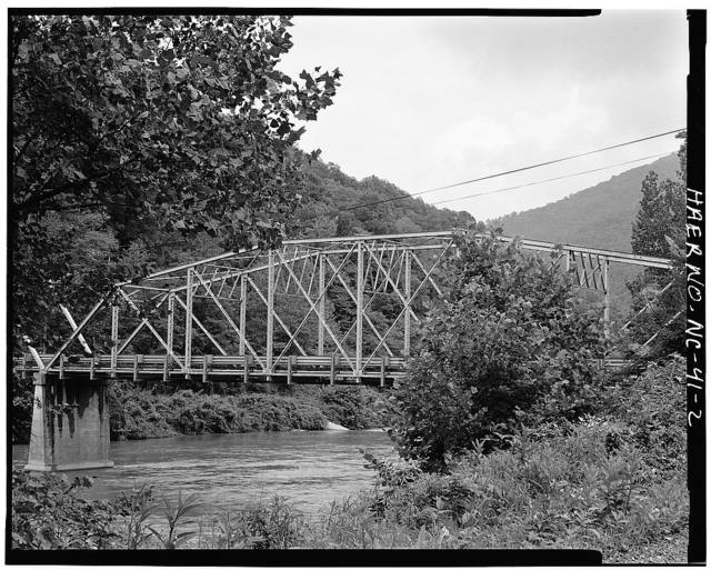 North Carolina Route 1314 Bridge, Spanning Toe River, Relief, Mitchell County, NC