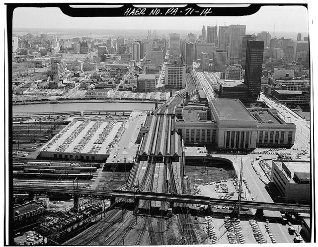 Northeast Railroad Corridor, Amtrak route between Delaware-Pennsylvania & Pennsylvania-New Jersey state lines, Philadelphia, Philadelphia County, PA