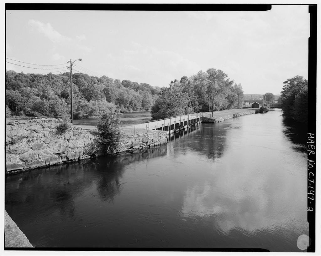 Norwich Water Power Company, West bank of Shetucket River beginning opposite Second Street & extending .8 mile northward, Greenville section, Norwich, New London County, CT