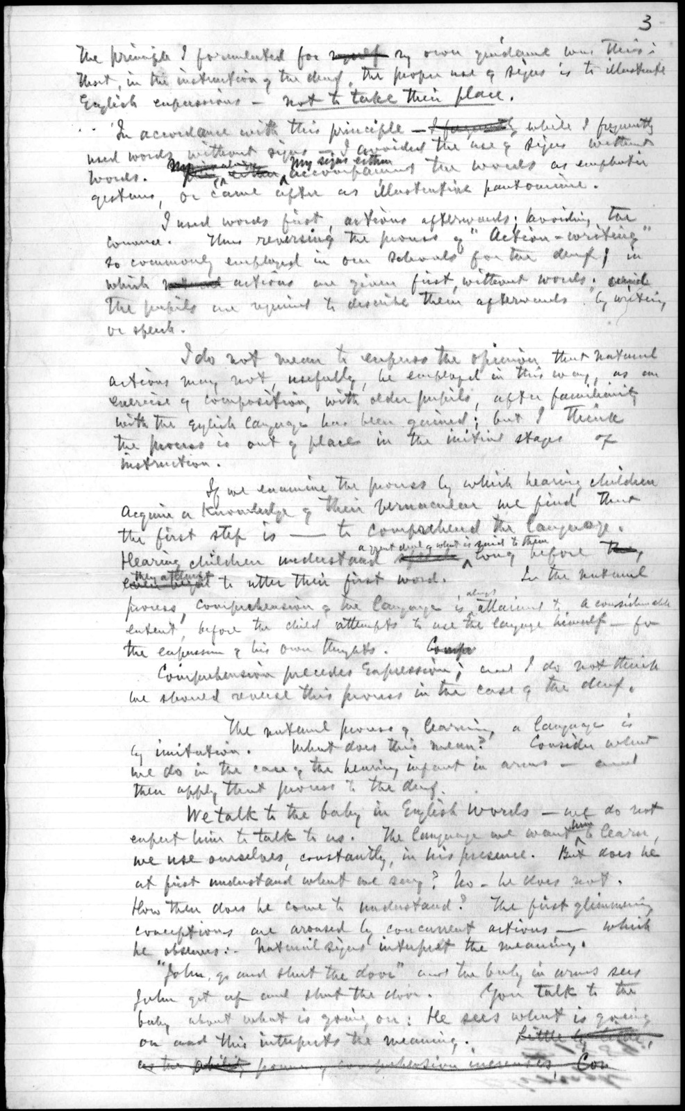Notes by Alexander Graham Bell, undated