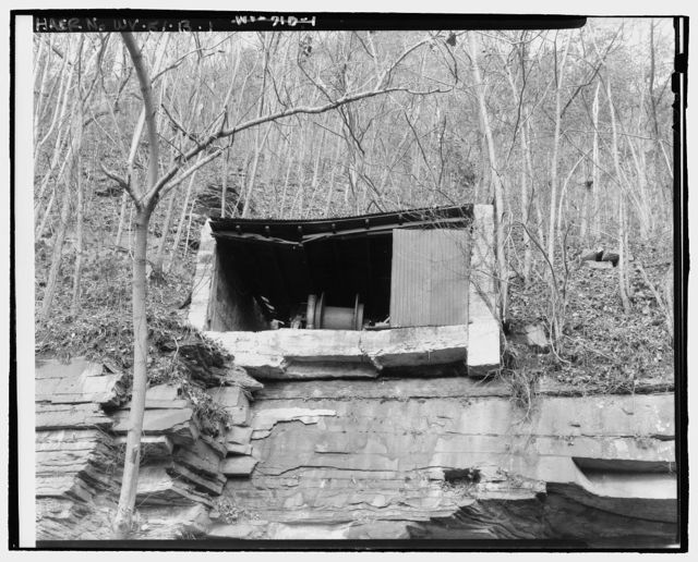 Nuttallburg Mine Complex, Hoist House, North side of New River, 2.7 miles upstream from Fayette Landing, Lookout, Fayette County, WV