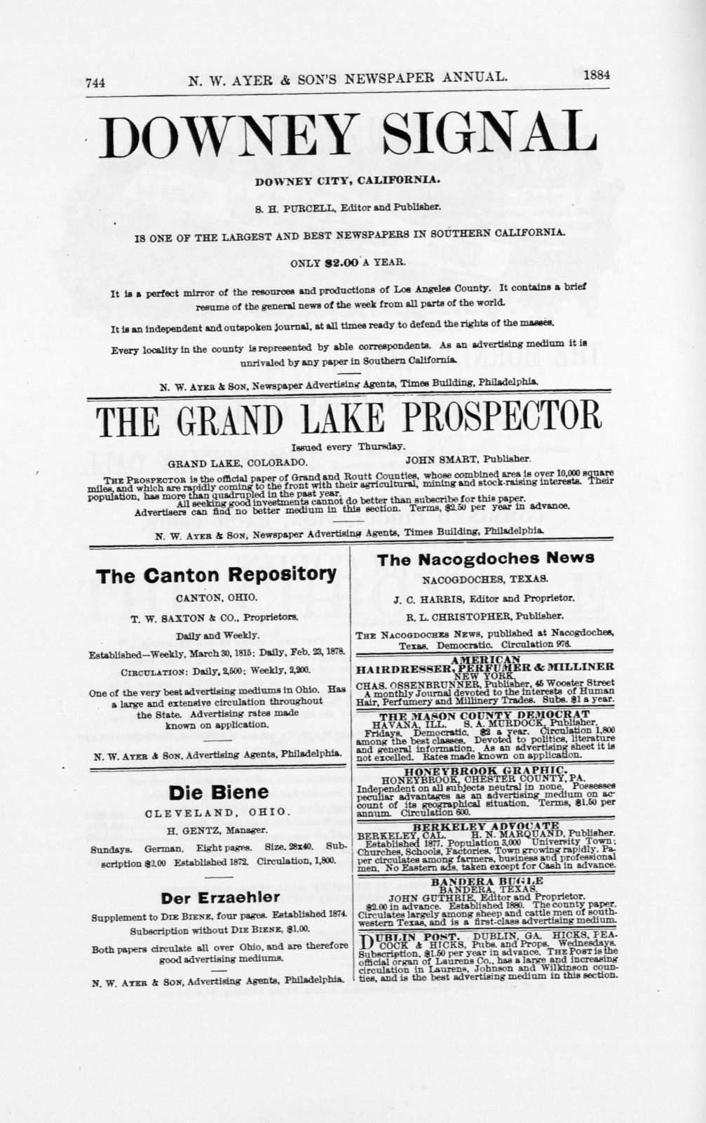 N.W. Ayer & Son's American newspaper annual 1893