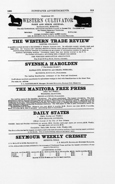 N.W. Ayer & Son's American newspaper annual.1908.Part III.