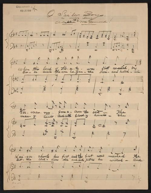 O sailor boys a war song