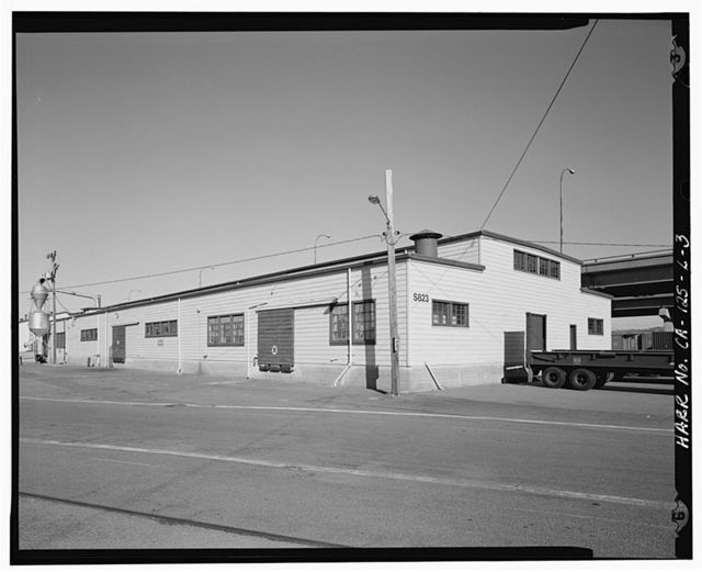 Oakland Army Base, Box & Crate Shop, Ukraine Street & Warehouse Road, Oakland, Alameda County, CA