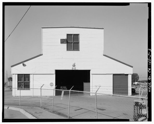 Oakland Army Base, Vehicle Maintenance Shop, Tobruk Street, between Warehouse Road & Ukraine Street, Oakland, Alameda County, CA