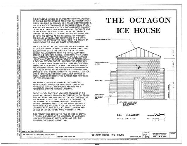 Octagon House, Ice House, 1799 New York Avenue, Northwest, Washington, District of Columbia, DC