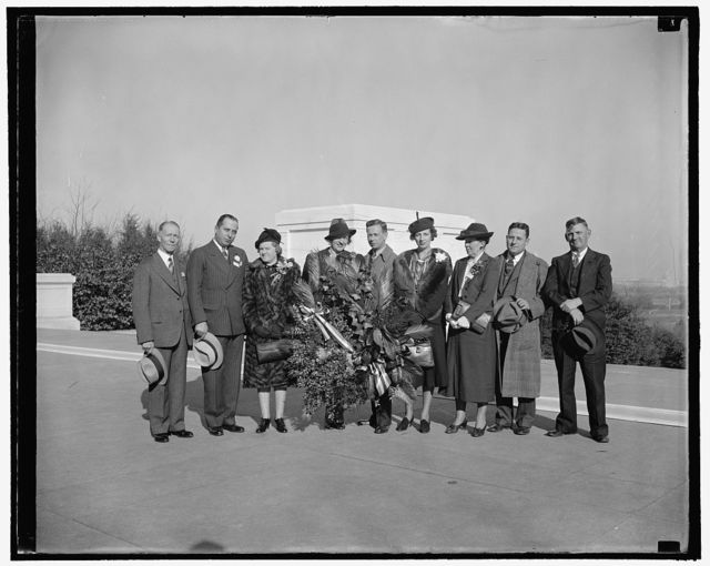 Officials of Florists Telegraph Delivery Assn., Inc., including President Willard Carin, 11/9/38