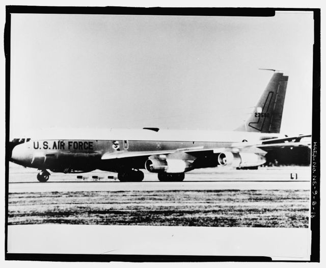 Offutt Air Force Base, Looking Glass Airborne Command Post, Looking Glass Aircraft, On Operational Apron covering northeast half of Project Looking Glass Historic District, Bellevue, Sarpy County, NE