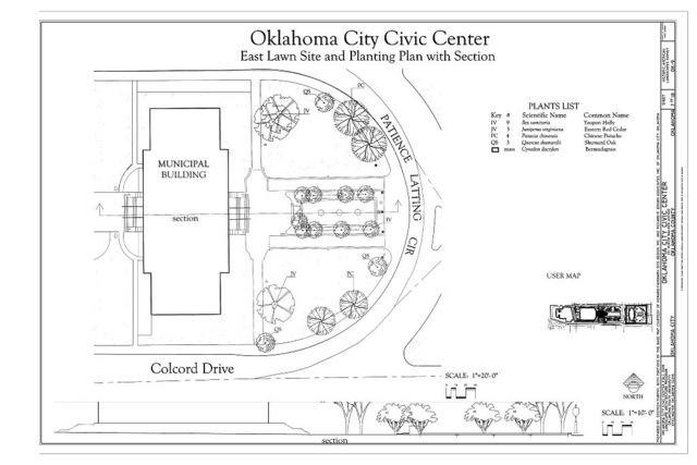Oklahoma City Civic Center, Bounded by N. Shartel Avenue to the West, N. Hudson Avenue to the East, Couch Drive to the North, and Colcord Drive to the South, Oklahoma City, Oklahoma County, OK