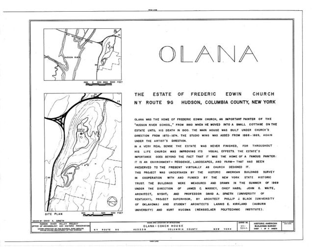 Olana, Coach House, State Route 9G, Hudson, Columbia County, NY