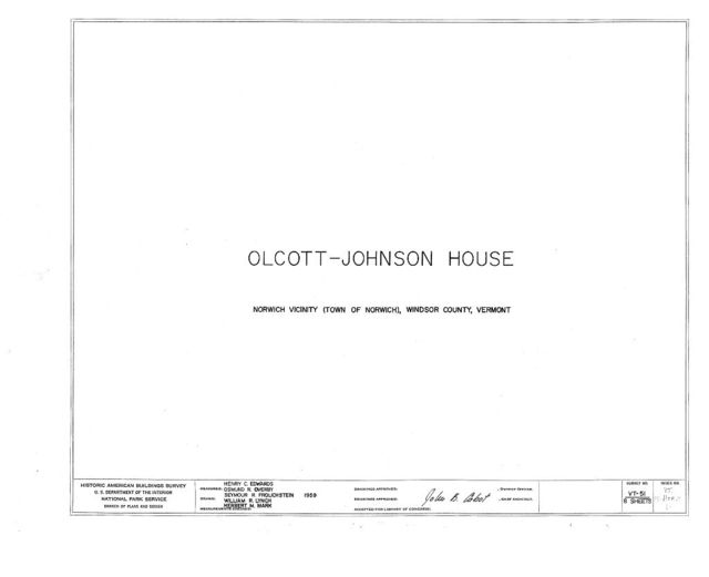 Olcott-Johnson House, Old Norwich Center, Norwich, Windsor County, VT