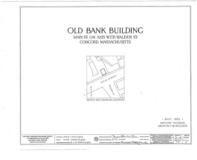 Old Bank Building, Main Street, Concord, Middlesex County, MA