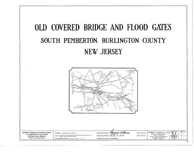 Old Covered Bridge & Flood Gates, South Pemberton, Burlington County, NJ