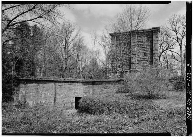 Old Croton Aqueduct, Mill River Waste Weir, U.S. Route 9 at Sleepy Hollow Cemetery, Tarrytown, Westchester County, NY