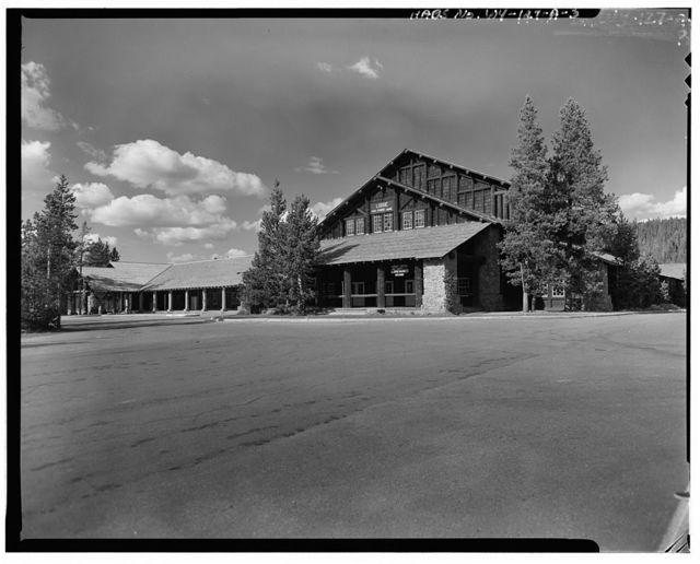 Old Faithful Lodge, Lodge Building, 1050' East of Old Faithful Inn & 2200' North of Grand Loop Road, West Thumb, Teton County, WY