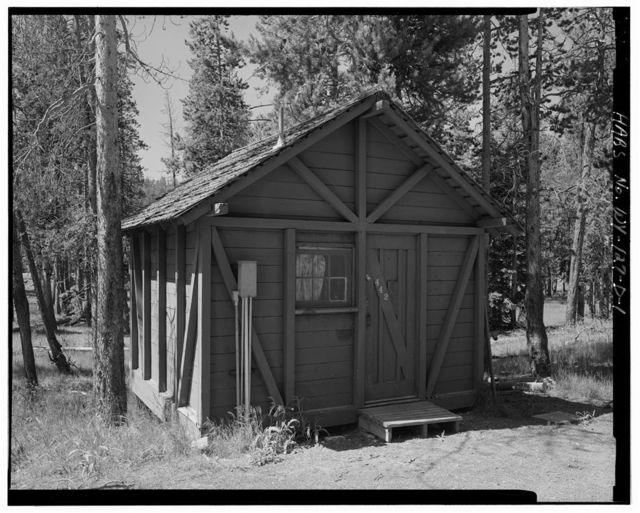 Old Faithful Lodge, Tourist Cabin Type F No. 442, 160' East of Lodge Entrance, West Thumb, Teton County, WY