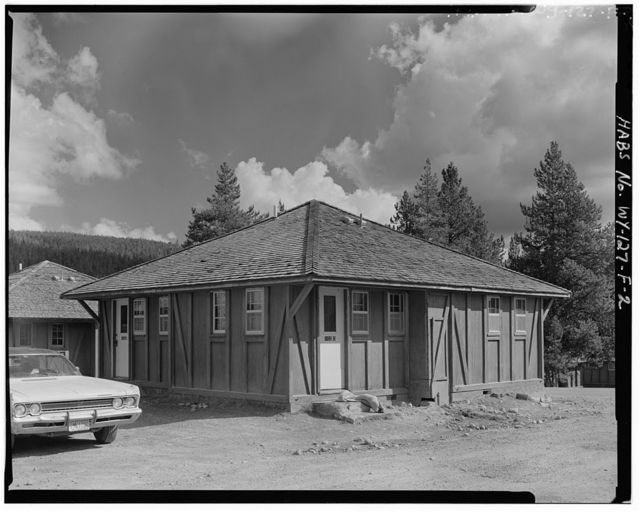 Old Faithful Lodge, Tourist Cabin Type L No. 100, 360' Northeast of Lodge Entrance, West Thumb, Teton County, WY