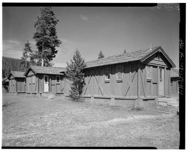 Old Faithful Lodge, Tourist Cabin Type N No. 137-138, 360' East of Lodge Entrance, West Thumb, Teton County, WY