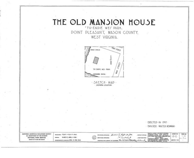 Old Mansion House, First & Main Streets, Point Pleasant, Mason County, WV