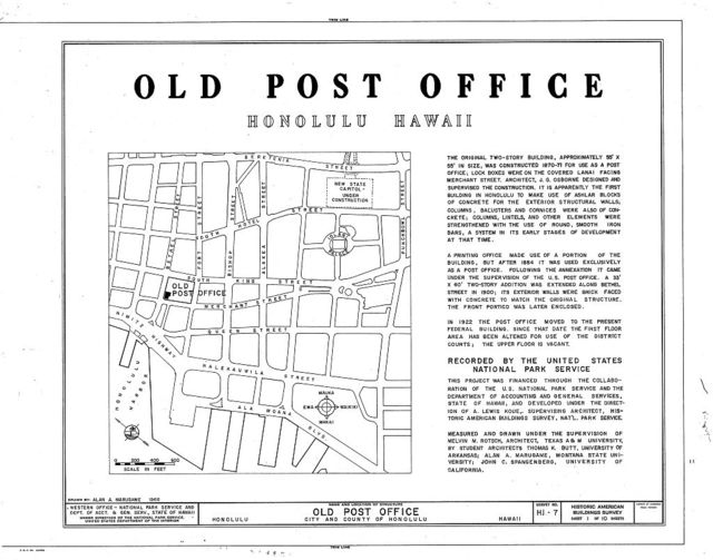 Old Post Office, Merchant & Bethel Streets, Honolulu, Honolulu County, HI