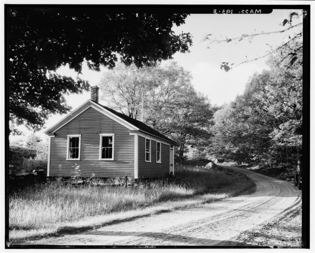 Old Red Schoolhouse, Cooleyville Road, Prescott Center, Franklin County, MA