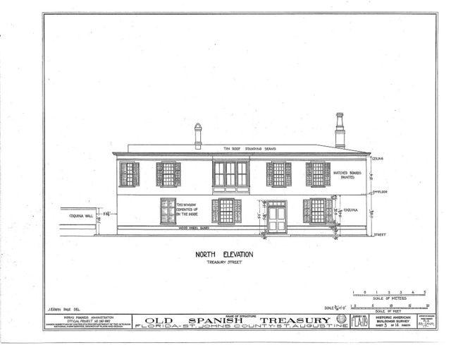 Old Spanish Treasury, 143 Saint George & Treasury Streets, Saint Augustine, St. Johns County, FL
