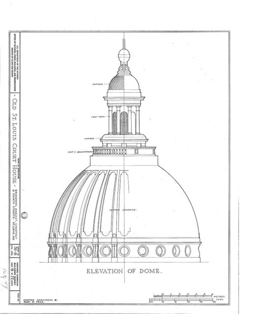 Old St. Louis Courthouse, Fourth to Broadway, Market to Chestnut Streets, Saint Louis, Independent City, MO
