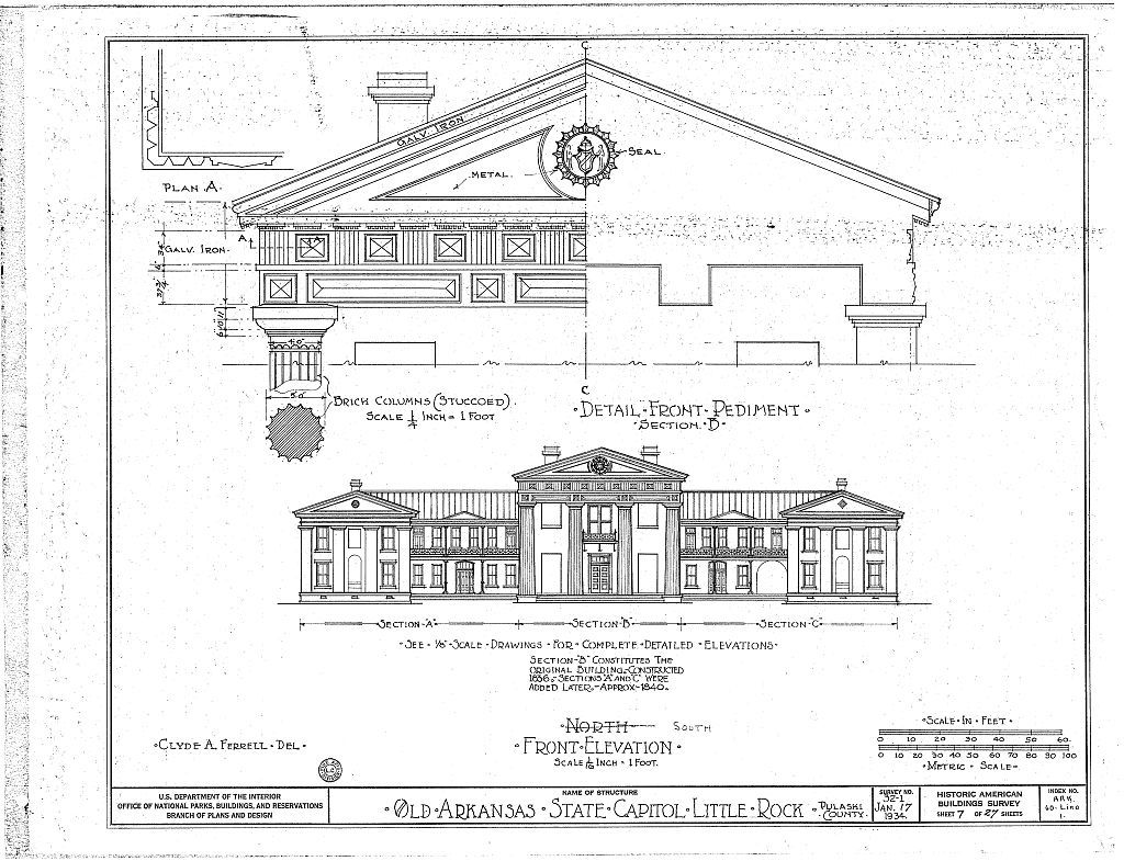 Old State Capitol Building, Markham & Center Streets, Little Rock, Pulaski County, AR